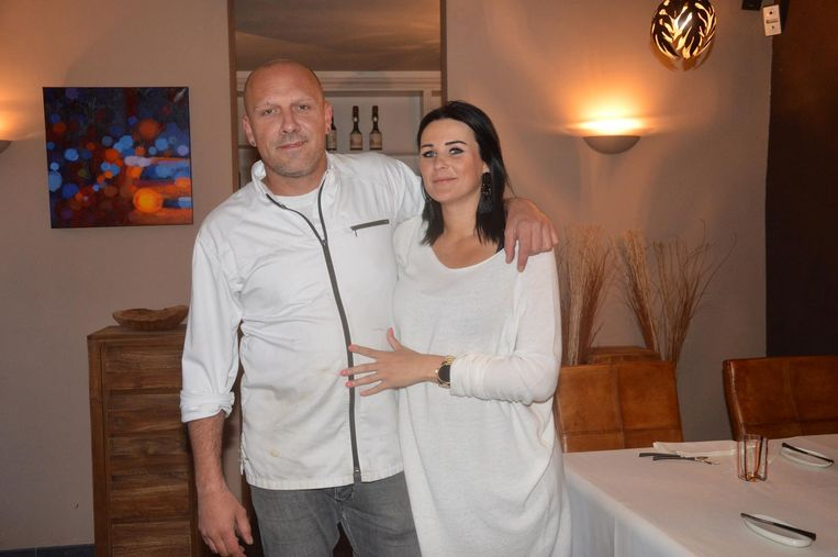 Zaakvoerders Steven Van Snick en Sara Gijsels in hun restaurant in Geraardsbergen.