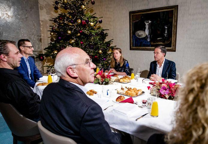 Premier Mark Rutte en minister Carola Schouten van Landbouw, Natuur en Voedselkwaliteit spreken op het Catshuis met het Landbouw Collectief over de stikstofproblematiek. ANP SEM VAN DER WAL