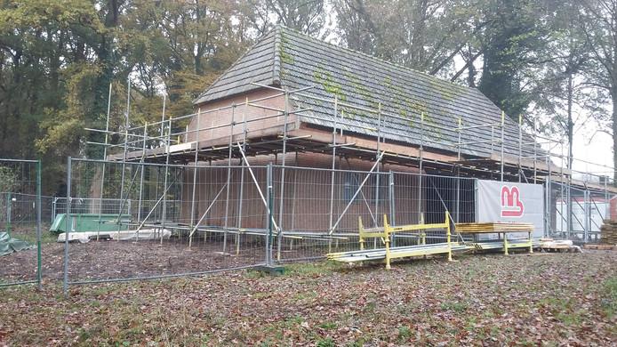 De schuur van Brabants Landschap verandert helemaal. In mei staat hier het nieuwe museum Romeins Halder.