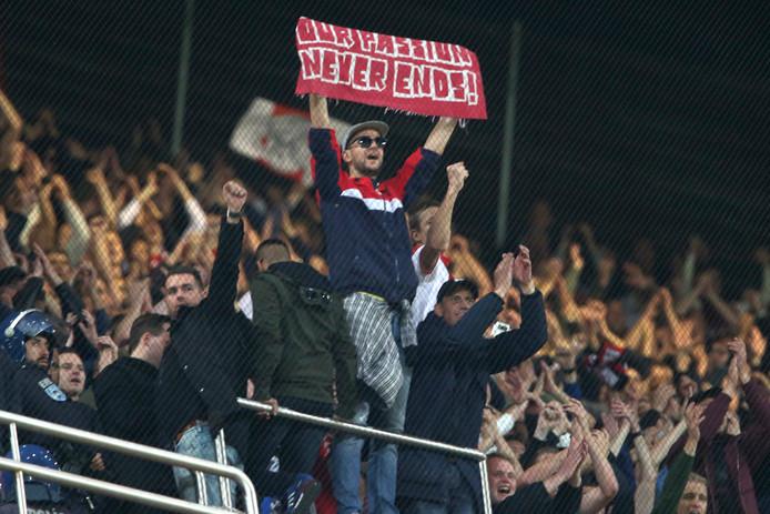 Fans van Ajax in Lissabon.