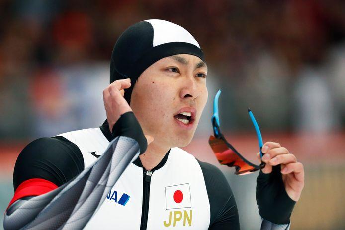 De winnaar op de 500 meter: Tatsuya Shinhama.