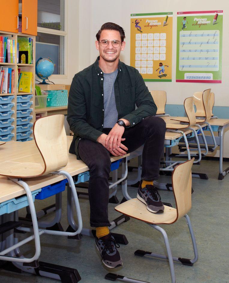 Justin gefotografeerd op een basisschool in Nijmegen. Beeld Daniel Cohen