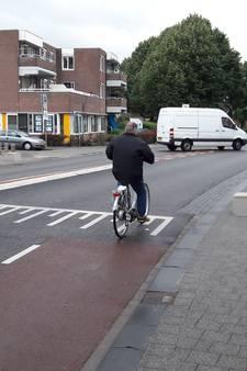 Rode fietsstroken weer terug in Harderwijk
