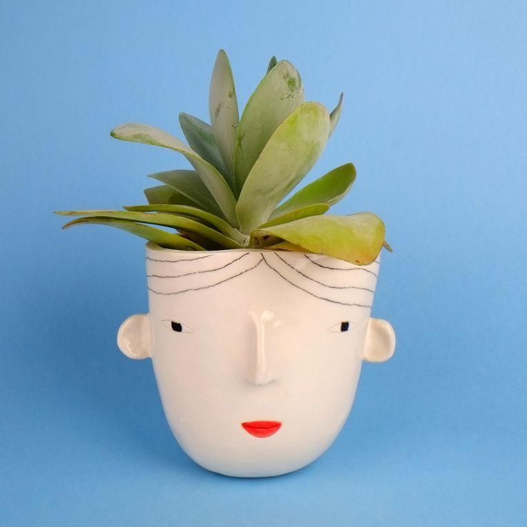 Plantenpotje met gezicht (Pothead by Rachel Sender, € 40)