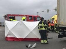 Motorrijder ernstig gewond na ongeluk op A2 bij Zaltbommel