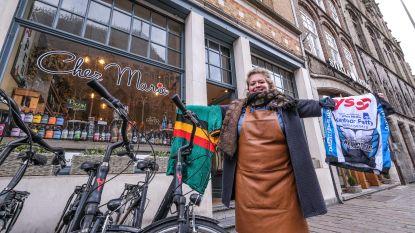 Stad Ieper in de ban van Gent-Wevelgem in Flanders Fields: uitbaatster Chez Marie versiert zaak met wielertruitjes