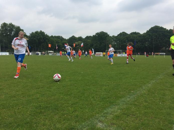 Op het internationale G-voetbaltournooi in Tilburg speelden Frankrijk en Polen om de derde plek