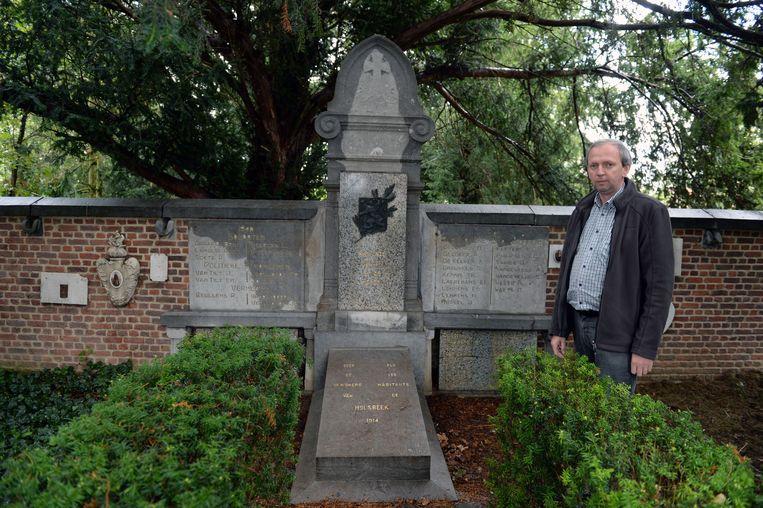 Waarnemend burgemeester Rudy Janssens (CD&V). Hier aan het herdenkingsmonument van oud-strijders.