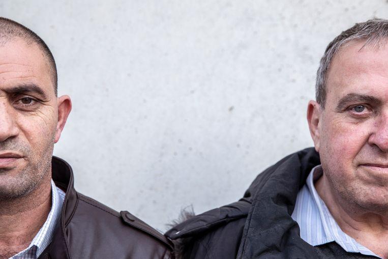 Bassam Aramin en Rami Elhanan: 'We willen mensen er een voor een van overtuigen dat we kunnen veranderen.' Beeld Oded Balilty / AP