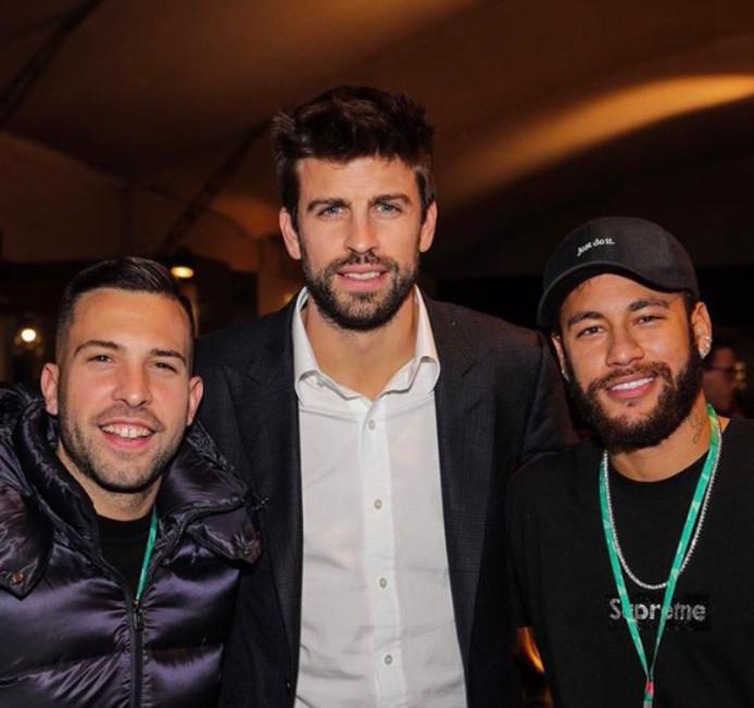Jordi Alba, Gérard Piqué et Neymar.