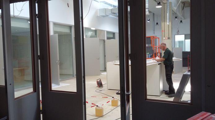 Het nieuwe kantoor van de RSD in wording.