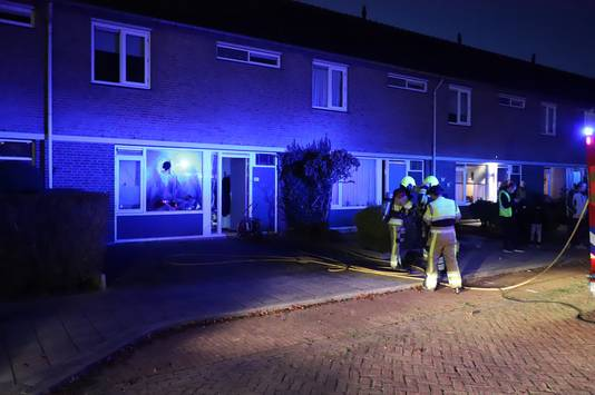 De bewoner van het rijtjeshuis in de wijk Aldenhof is aangehouden voor openbare dronkenschap en belediging.