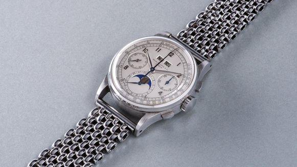 De Patek Philippe Ref. 1518 in roestvrij staal, momenteel het duurste horloge ooit.