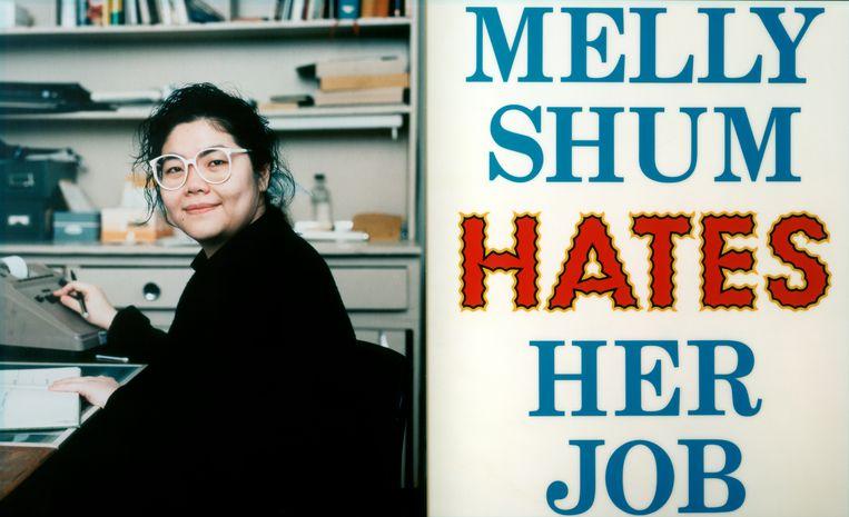 Ken Lum: Melly Shum Hates Her Job (1990).  Beeld Afbeelding met dank aan voorheen Witte de With Center for Contemporary Art.