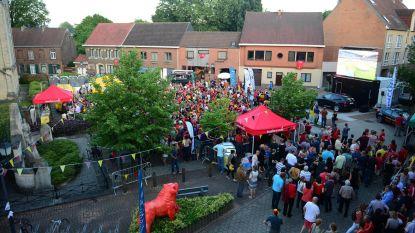 Groot scherm en gratis vlaggen in WK-dorp Wild van H(erent)