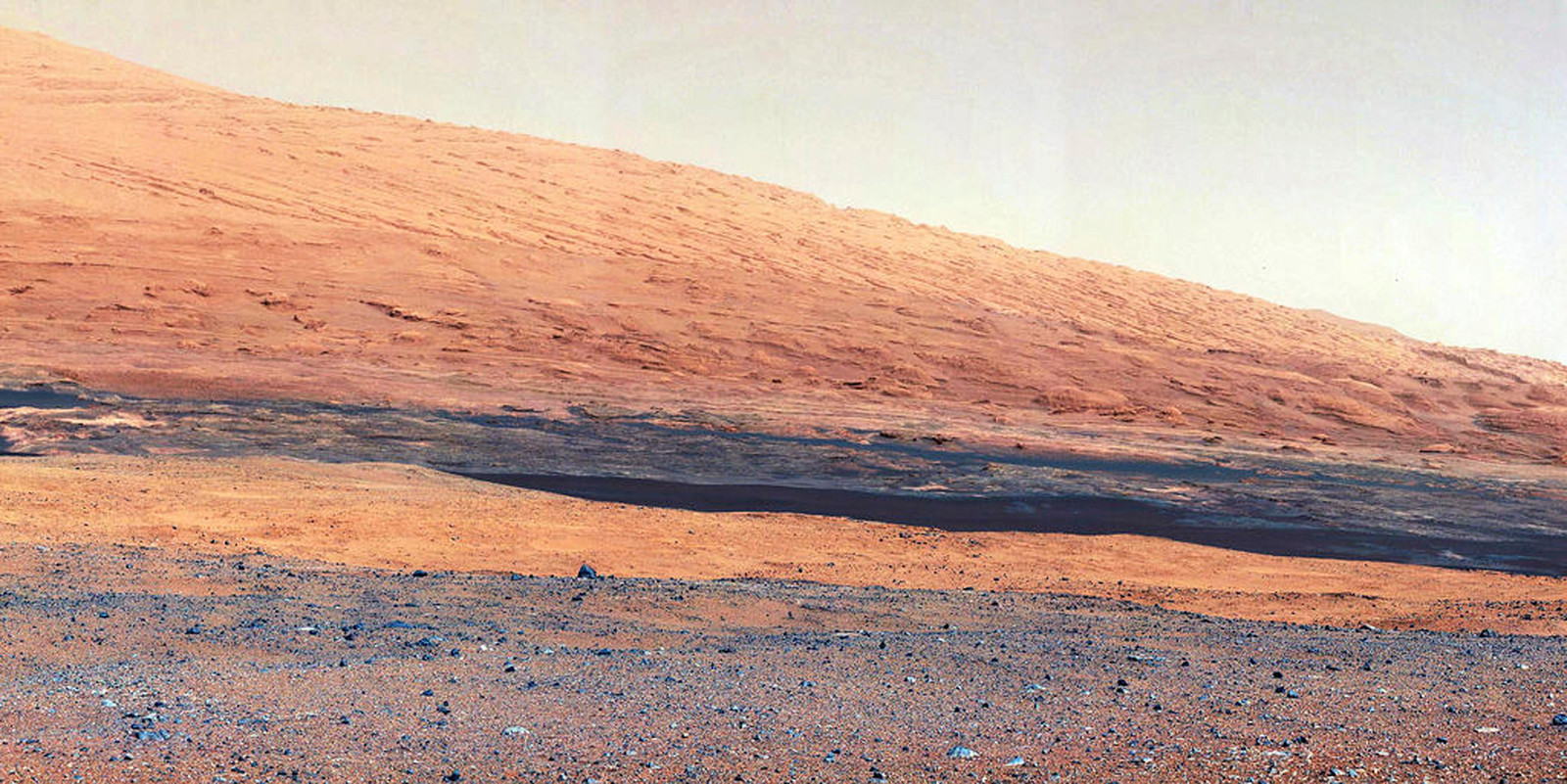 Mount Sharp, gefotografeerd door Curiosity.