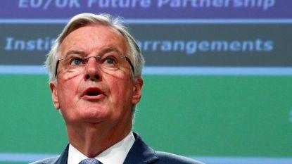 """EU-hoofdonderhandelaar Barnier: """"Sleutel vrijhandelsakkoord ligt bij Johnson"""""""