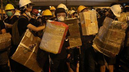 Politie zet opnieuw traangas in bij protesten in Hongkong
