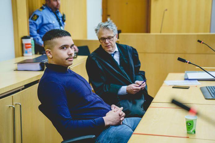 OSLO - Verdachte Makaveli Lindén in de rechtbank van Oslo, Noorwegen. Hij wordt in Mechelen verdacht van de moord op de 58-jarige Johanna Jostameling.