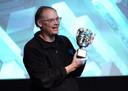 Tim Sweeney, topman van Epic Games, ontvangt een BAFTA-award in 2019 in Londen.
