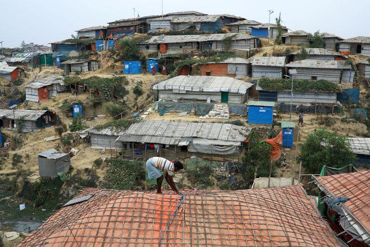Een vluchtelingenkamp van Rohingya in Bangladesh.