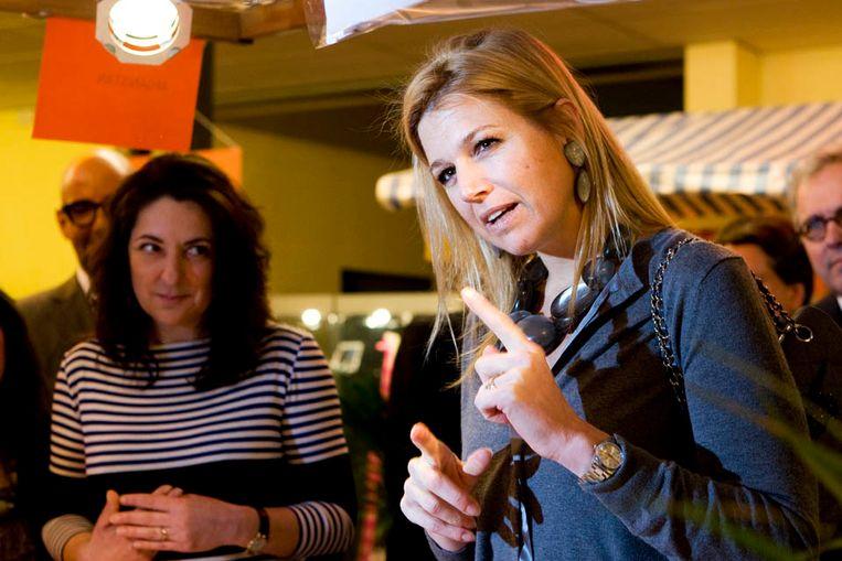 Prinses Maxima tijdens een campagne om aandacht te vragen voor microkrediet (ANP) Beeld Vincent Jannink