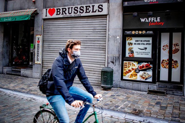 In de maanden april, mei en juni kromp de Nederlandse economie met 9,4 procent ten opzichte van dezelfde periode een jaar eerder. In België was dat 14,5 procent. Beeld SOPA Images/LightRocket via Getty