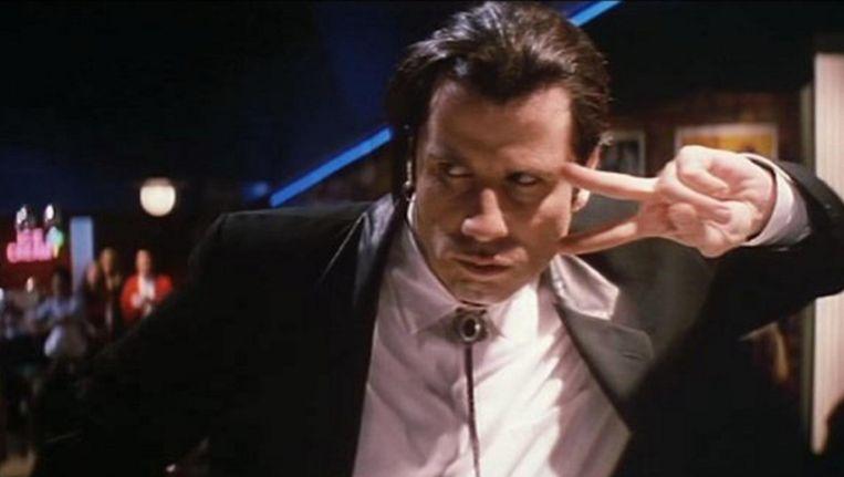 John Travolta als Vincent in Pulp Fiction. Beeld