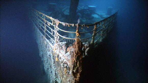 De legendarische boeg van de Titanic is volgens experts het volgende onderdeel om volledig te verdwijnen (illustratiebeeld).