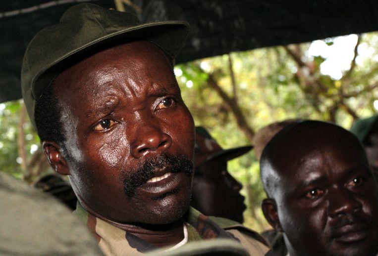 De leider van de Lord's Resistance Army, Joseph Kony, in 2006. Beeld ap