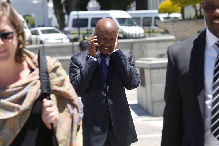 Tom Moyane afgelopen november bij het parlement in Kaapstad. Beeld Getty Images