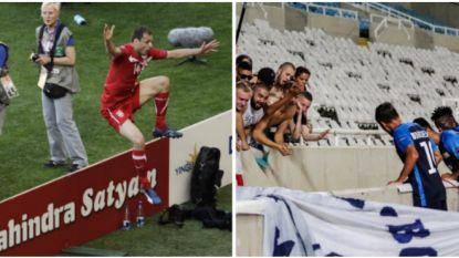 Jovanovic achterna: speler viert doelpunt in Europa League iets té uitbundig