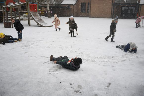 Dolle pret in school De Boomhut in Kampenhout.