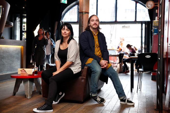 Minke Weeda en Stephan Maaskant. ,,Feestmaand cadeautje aan Rotterdam.''