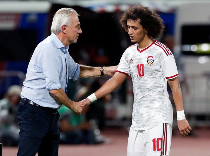 Bert Van Marwijk met Omar Abdulrahman.