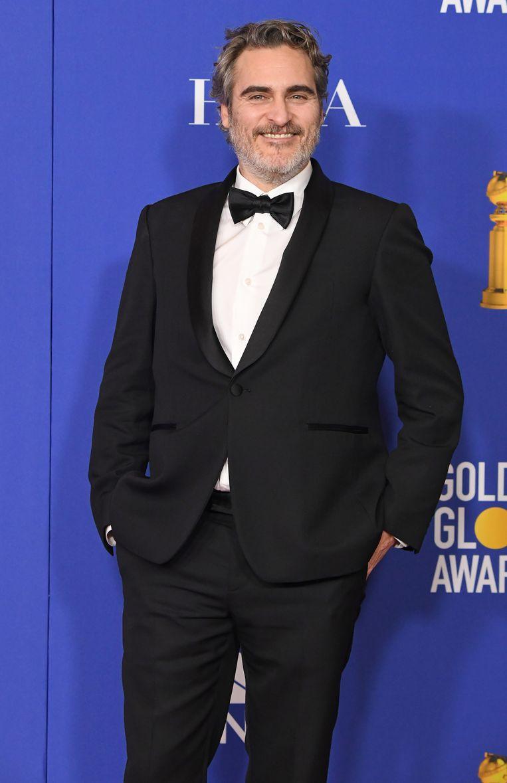 Acteur Joaquin Phoenix bij de uitreiking van de Golden Globe Awards, januari 2020 in Beverly Hills.  Beeld WireImage