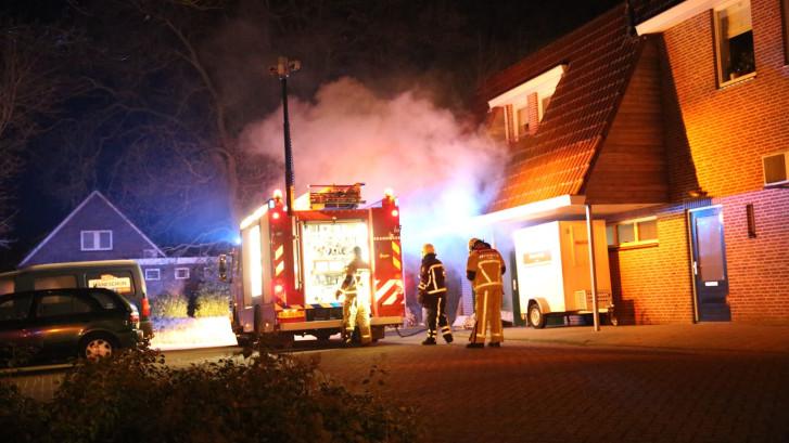 Brand bij supermarkt in Daarle