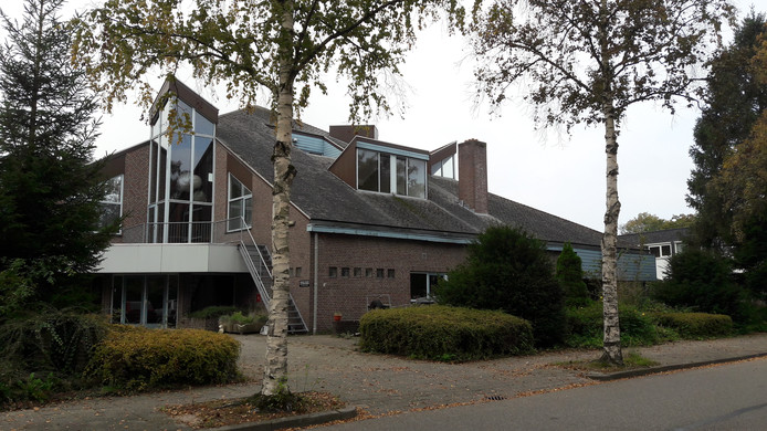 Het gekraakte pand aan de Langhoven in Bennekom, De Luwte.
