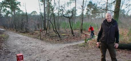 Rode paaltjes moeten voor rust zorgen op 'ernstig druk' mountainbikeparcours