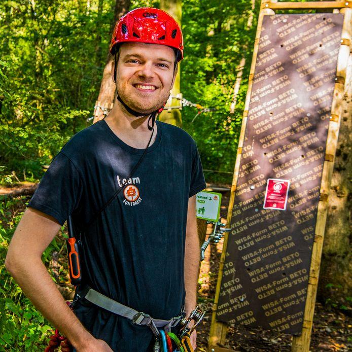 Remco Roodbeen kwam door een stage bij Fun Forest terecht en vond er zijn plekje.