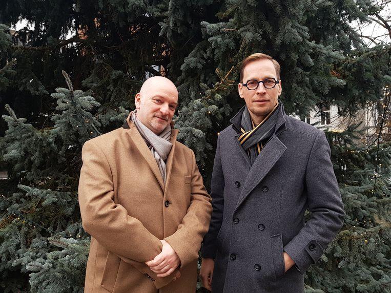 """De organisatoren van """"Klassiek in de Kapel"""" Jacques Kinnaer en Bart Debbaut"""