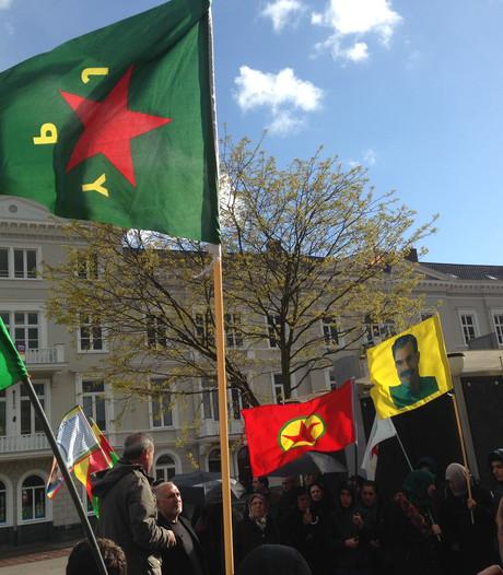 Demonstratie Koerden in Arnhem tegen Turks bombardement