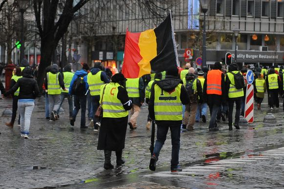 Leden van de gele hesjes-beweging in Luik. Archieffoto.