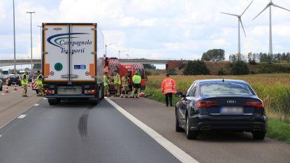 Automobilist stapt uit op pechstrook E17 en wordt aangereden door vrachtwagen, de man overleeft de klap niet