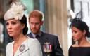 Kate Middleton et Harry et Meghan en arrière-plan.
