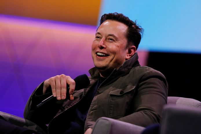 Elon Musk op gameconventie E3 in Los Angeles, Californië.