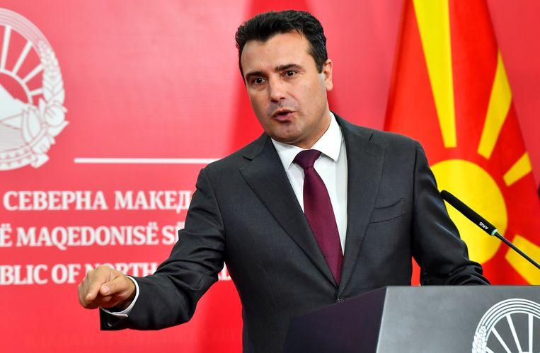 De afgetreden Noord-Macedonische premier Zoran Zaev.