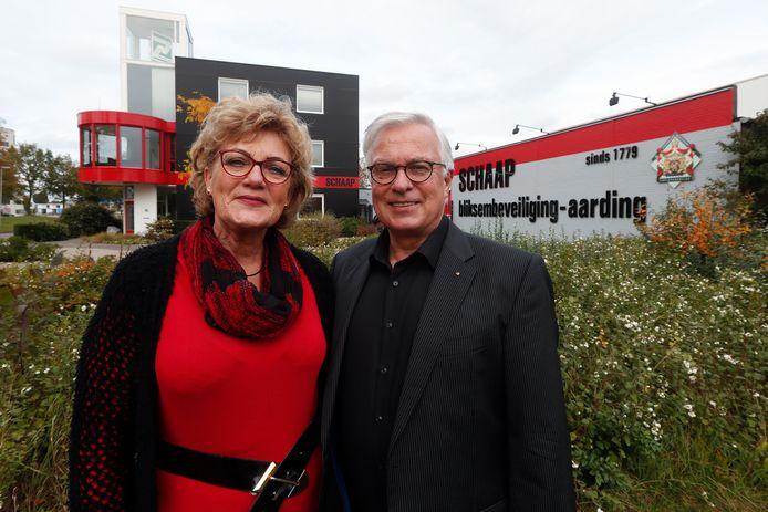 """Ingrid en Michel Hartmann. ,,Bang voor de bliksem ben ik niet,""""zegt Michel Hartmann, ,,maar ik heb er wel respect voor."""""""