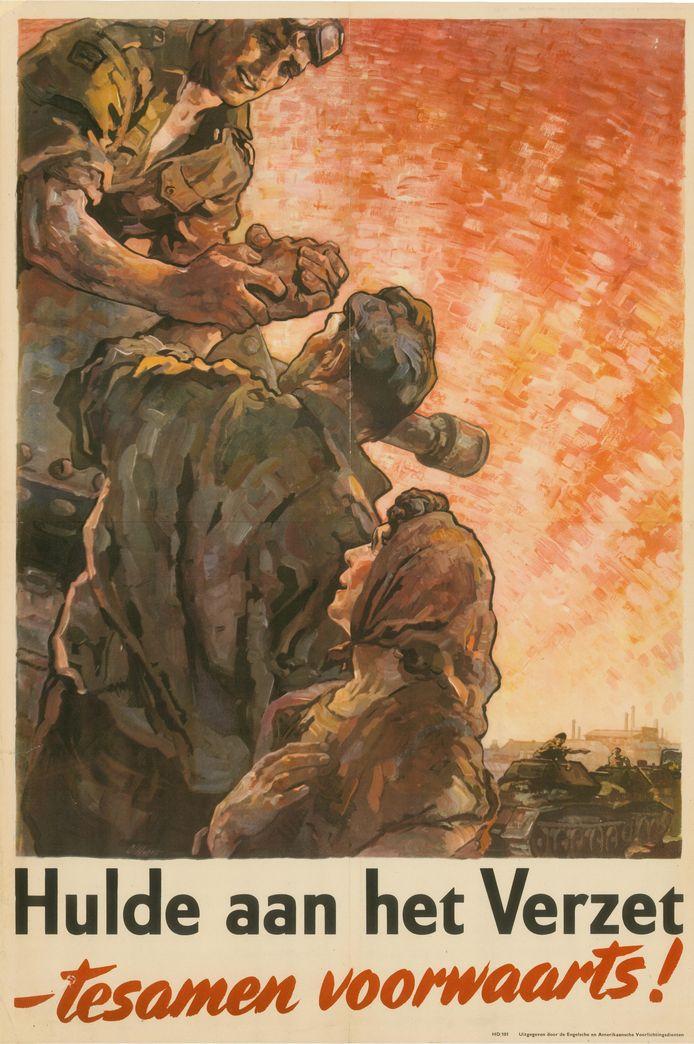 Affiche van net na de oorlog in de collectie van het Regionaal Archief Tilburg.
