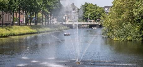 Zwolse fontein spuit weer én heeft een speciaal lichtknopje...